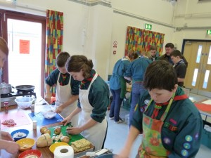 Deben District Scout Cooking Competition.